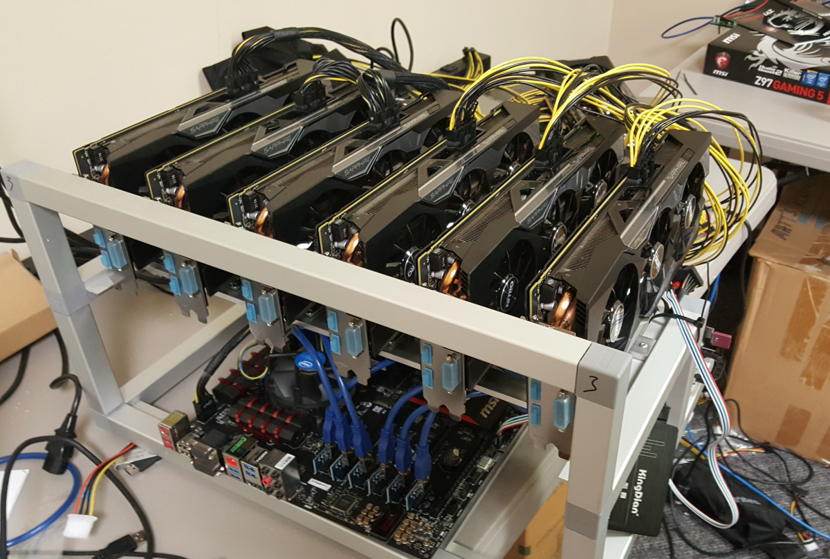 Image result for 6 gpu mining rig