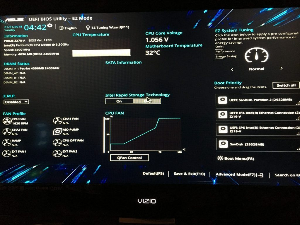asus bios keyboard is not working